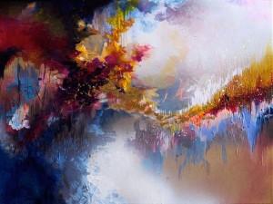 Καλλιτέχνις ζωγραφίζει τη... μουσική που ακούει!