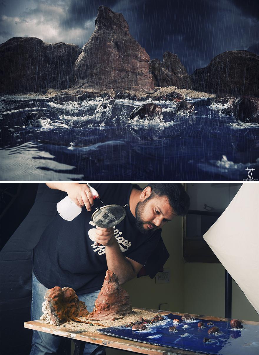 perierga.gr - Πώς ένας φωτογράφος δημιουργεί σκηνικά εντός για τις... εξωτερικές λήψεις του;