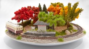 Μπονσάι συνδυάζονται με μινιτούρες τρένων δημιουργώντας υπέροχα τοπία