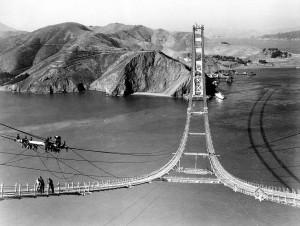 Εικόνες από την κατασκευή της γέφυρας του Σαν Φρανσίσκο...