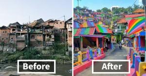 Παραγκούπολη μεταμορφώθηκε σε πολύχρωμο χωριό!