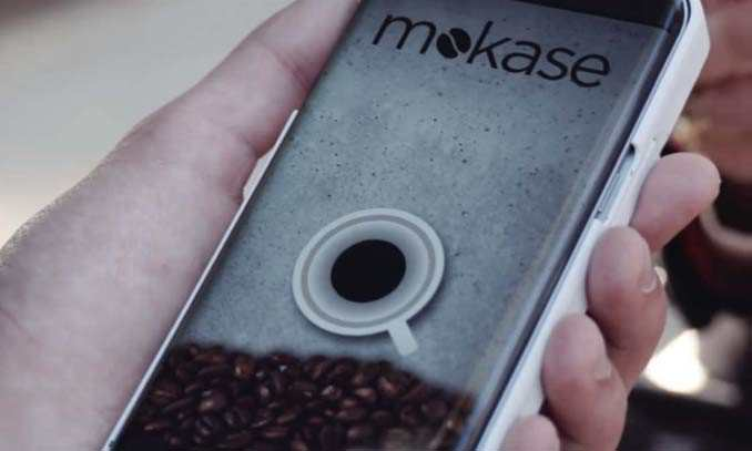 perierga.gr - Θήκη κινητού... παρασκευάζει καφέ!