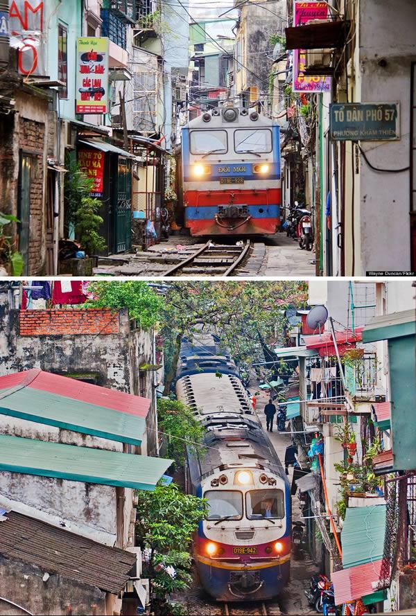 perierga.gr - Τρένα που περνούν μέσα από τα πιο περίεργα μέρη