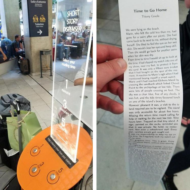 "perierga.gr - ""Έξυπνα"" μηχανήματα τυπώνουν ιστορίες για τους επιβάτες που περιμένουν..."