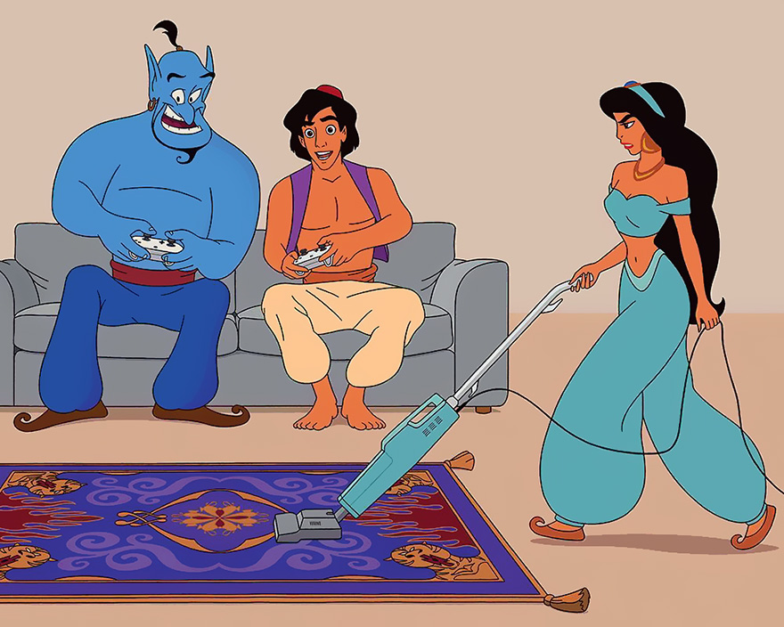 perierga.gr - Πώς θα ήταν διάσημες ταινίες του Disney αν γυρίζονταν το 2017;