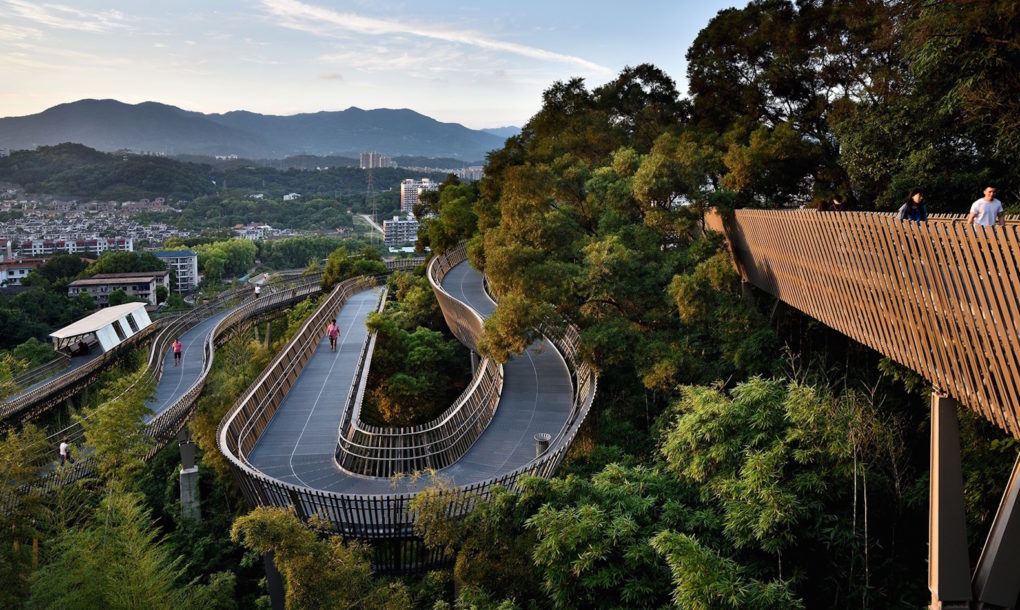 perierga.gr - Υπερυψωμένο μονοπάτι 19 χιλιομέτρων σε δάσος της Κίνας