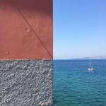 Ενας τοίχος, η θάλασσα και ο ουρανός δημιουργούν υπέροχο κάδρο