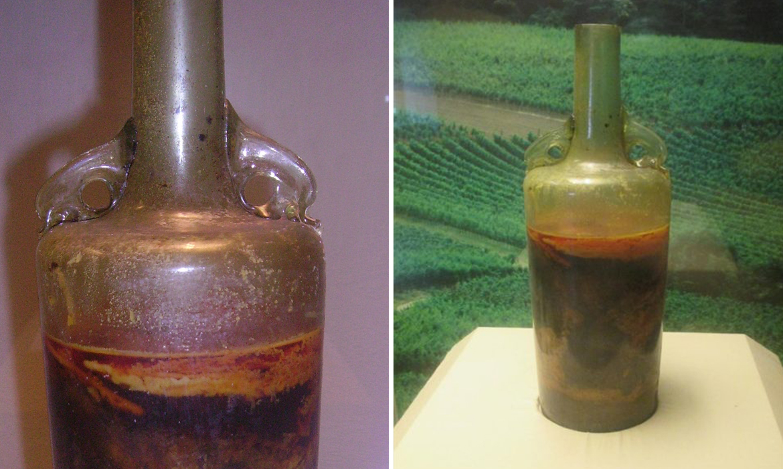 perierga.gr - Το παλαιότερο κλειστό μπουκάλι κρασιού παραμένει σφραγισμένο από τον 4ο αιώνα