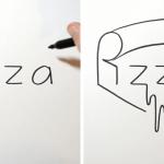 Καλλιτέχνης μετατρέπει τις λέξεις σε... σχήματα!