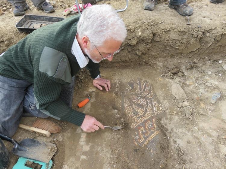 perierga.gr - Ερασιτέχνης αρχαιολόγος ανακάλυψε σπάνιο ρωμαϊκό μωσαϊκό!