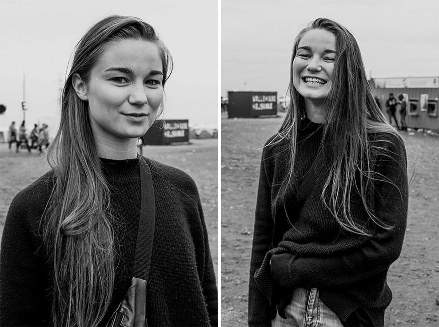 perierga.gr - Πορτρέτα ξένων πριν και μετά τους... φιλήσει ο φωτογράφος!
