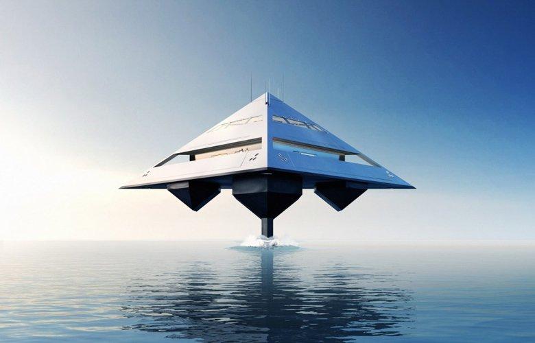 perierga.gr - Φουτουριστικό σκάφος σε σχήμα πυραμίδας!