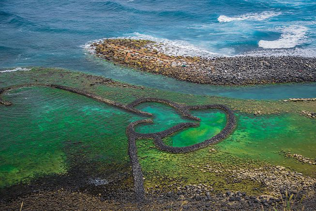 perierga.gr - Αρχαίες παγίδες ψαριών σε σχήμα... καρδιάς!