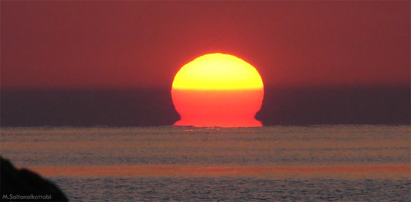 Ήλιος-ωμέγα: Ένα σπάνιο και όμορφο φαινόμενο