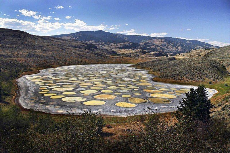 perierga.gr - Το μυστήριο της λίμνης με τις κηλίδες στον Καναδά!
