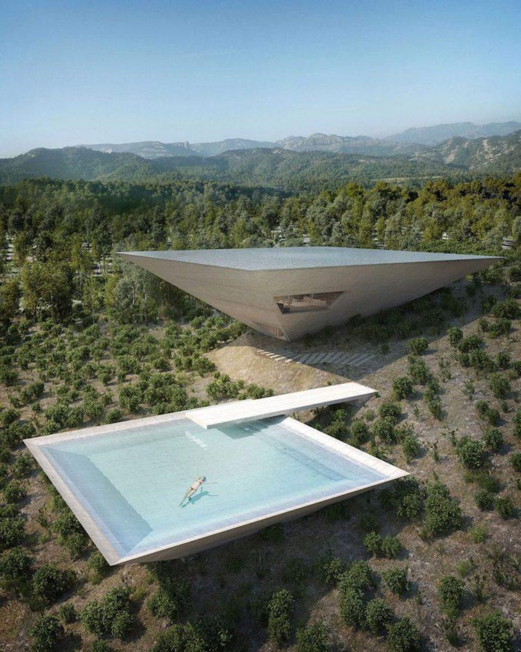 perierga.gr - Φουτουριστικές κατοικίες με πισίνα στην ταράτσα!