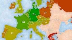 Χάρτης με... ανατροπές: Πόσο δουλεύουν οι Ευρωπαίοι, πόσο οι Ελληνες;