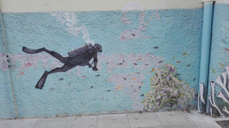 perierga.gr - Τα γκράφιτι μιας γυναίκας άλλαξαν την εικόνα γειτονιάς στην Κρήτη