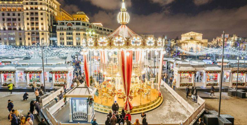 Μαγικές εικόνες από τη χριστουγεννιάτικη Μόσχα