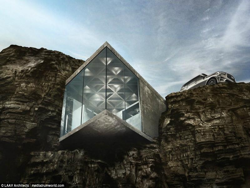 Perierga.gr - Μια μινιμαλιστική κατοικία στην άκρη του γκρεμού