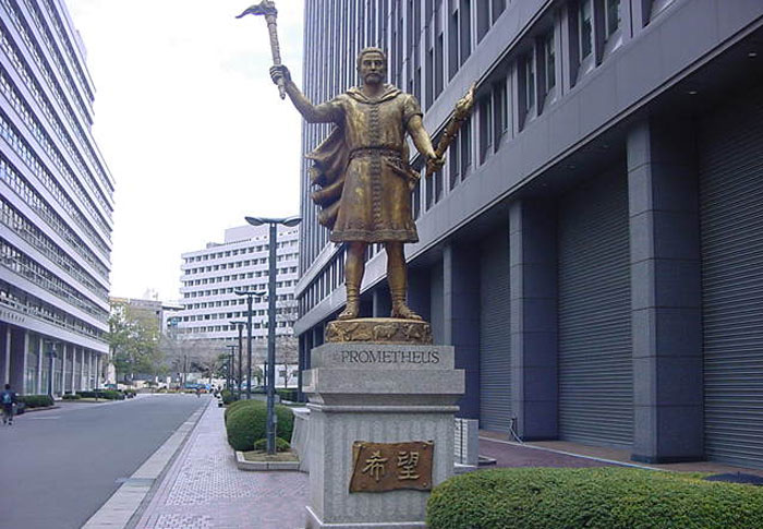 Perierga.gr - Ένα άγαλμα του Προμηθέα στο Τόκυο!