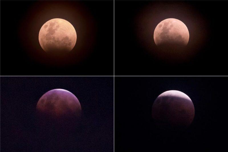 Perierga.gr - Θεαματικές εικόνες από τη σούπερ μπλε ματωμένη σελήνη