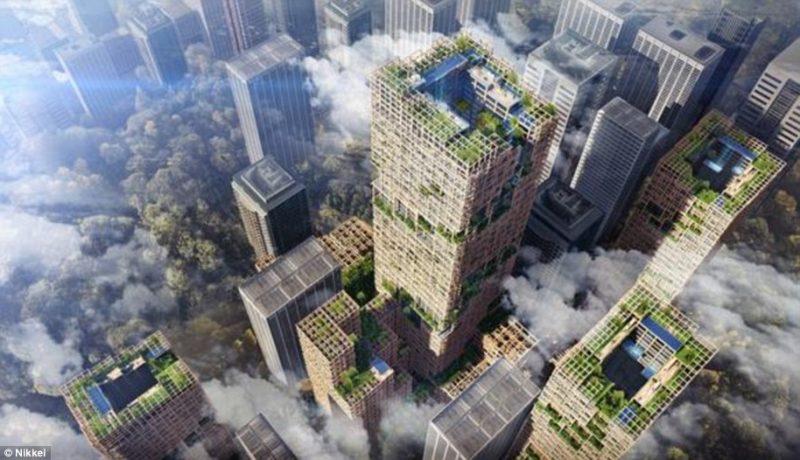 Perierga.gr - Ο ψηλότερος ξύλινος ουρανοξύστης θα χτιστεί στην Ιαπωνία
