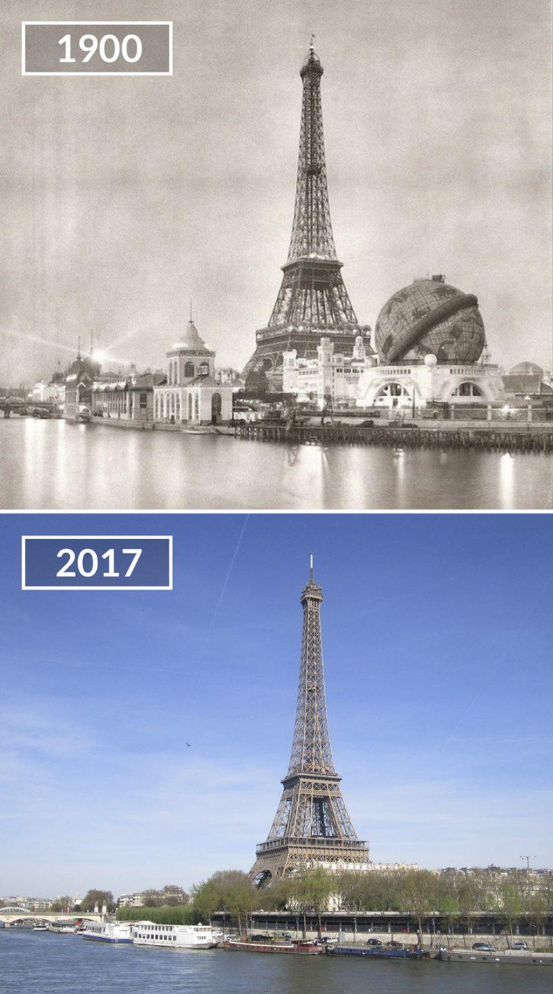 Perierga.gr - Το Παρίσι... τότε και τώρα!