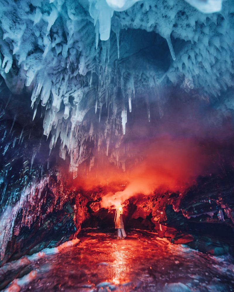 Perierga.gr - Θεαματικές εικόνες από την παγωμένη λίμνη Βαϊκάλη