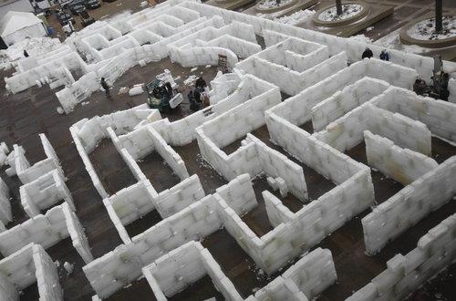 perierga.gr - Λαβύρινθος από πάγο