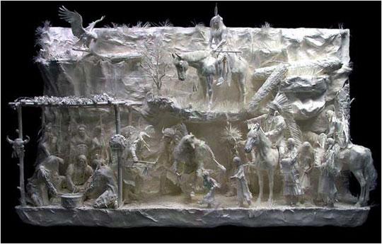 perierga.gr - Γλυπτά από χαρτί