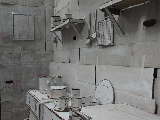 Perierga.gr - Ένα διαμέρισμα από χαρτόνι