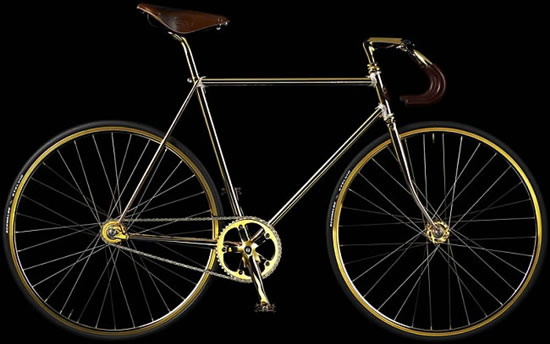 Perierga.gr - Ποδήλατα από καθαρό χρυσάφι