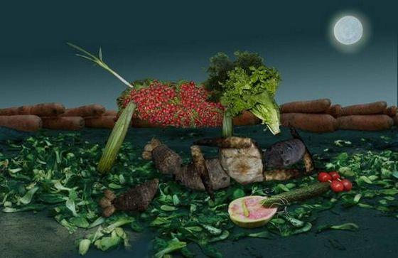 Perierga.gr - Πίνακες από λαχανικά