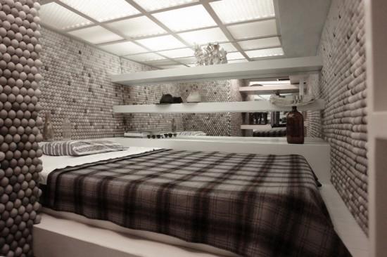 Perierga.gr - Διαμέρισμα με μπαλάκια πινγκ πονγκ
