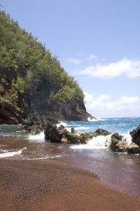 Κόκκινη παραλία στη Χαβάη
