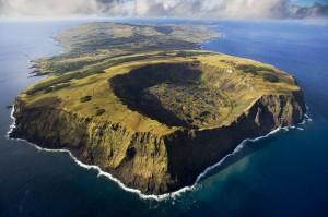 Ο κρατήρας του ηφαιστείου Rano Kau