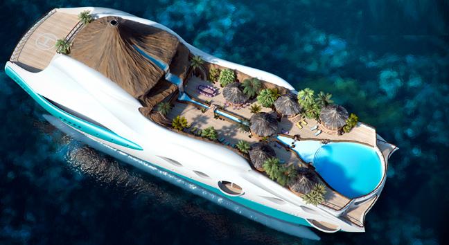 Perierga.gr - Γιότ τροπικό νησί