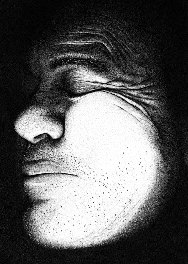 perierga.gr - Έφτιαξε το πορτρέτο του πατέρα του με 3,2 εκατ. κουκκίδες!