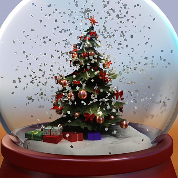 perierga.gr - Τα Χριστούγεννα χιονίζει στο... βάζο!
