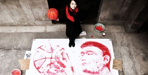 perierga.gr - Ζωγραφίζοντας με μια... μπάλα του μπάσκετ!