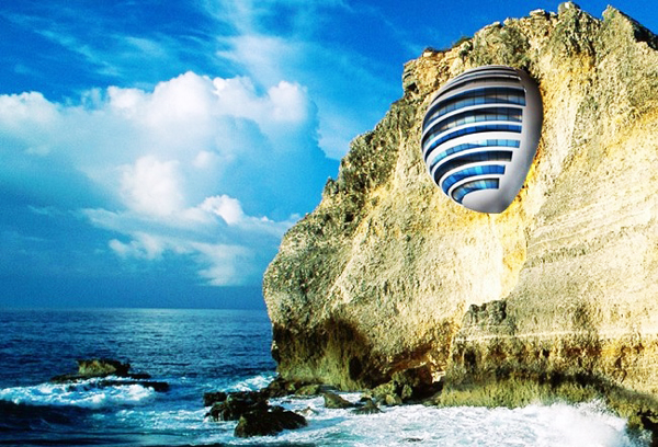 "perierga.gr - Ένα ξενοδοχείο ""προσκολλημένο"" στα βράχια!"