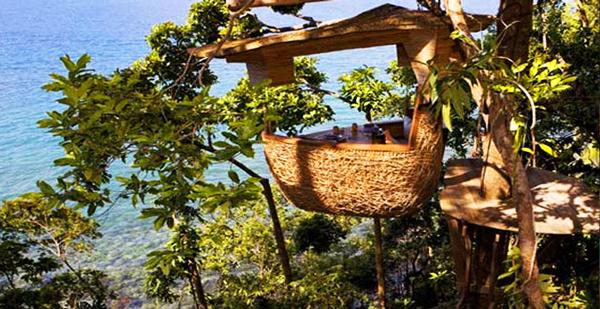 perierga.gr - Soneva Kiri Restaurant: Τρώγοντας πάνω στο δέντρο!