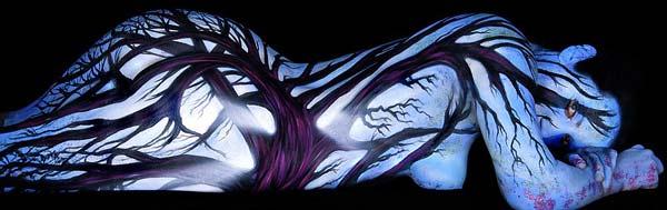 perierga.gr - Ζωγραφίζοντας σε... ανθρώπινους καμβάδες!