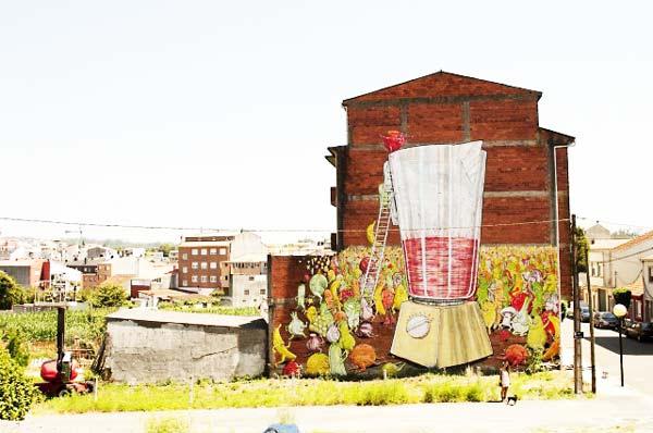 perierga.gr - Η τέχνη του δρόμου... γιορτάζει την υγιεινή διατροφή!