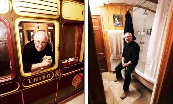 perierga.gr - Έχτισε το σπίτι του γύρω από ένα βαγόνι!