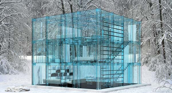 perierga.gr - Ένα φουτουριστικό γυάλινο σπίτι!