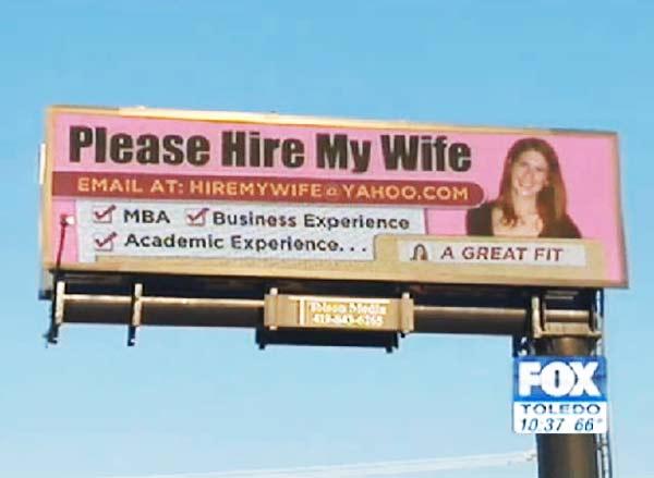 "perierga.gr - ""Παρακαλά, προσλάβετε τη γυναίκα μου!"""
