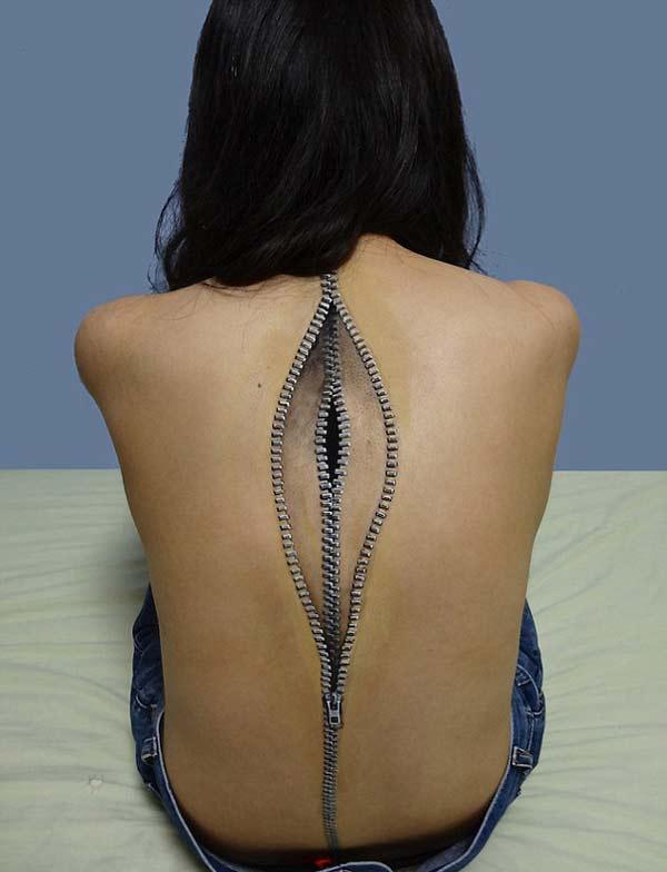 "perierga.gr - ""Ανατριχιαστικό"" body painting τρομάζει!"