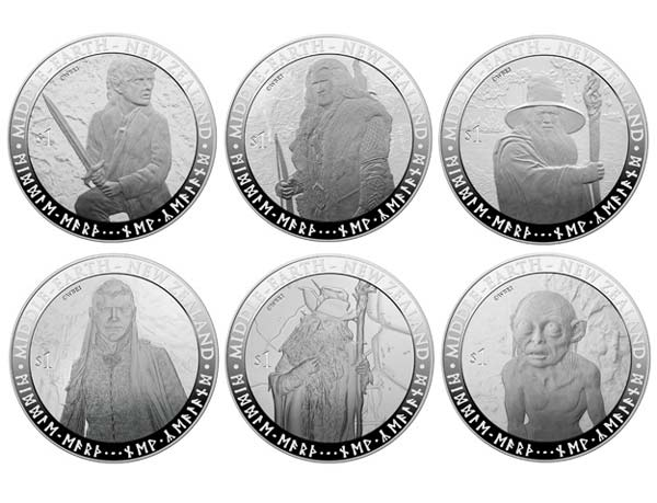 "perierga.gr - Ήρωες του ""Άρχοντα των Δαχτυλιδιών"" σε νομίσματα!"